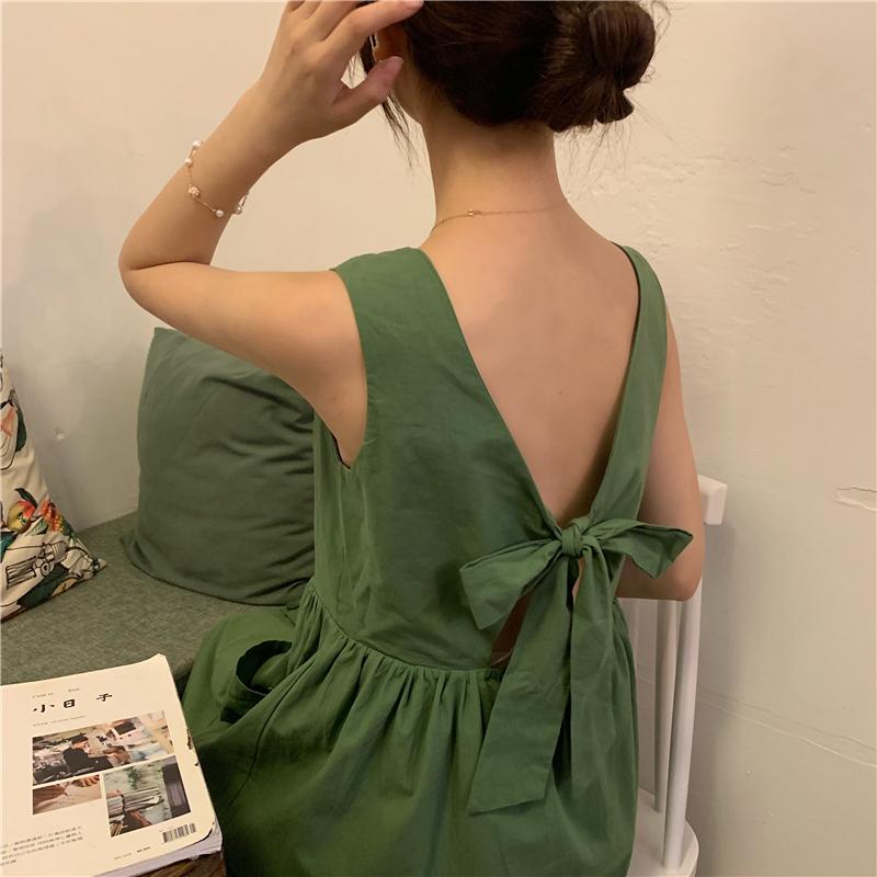 控价5实价实拍仙女超仙森系小清新吊带连衣裙甜美