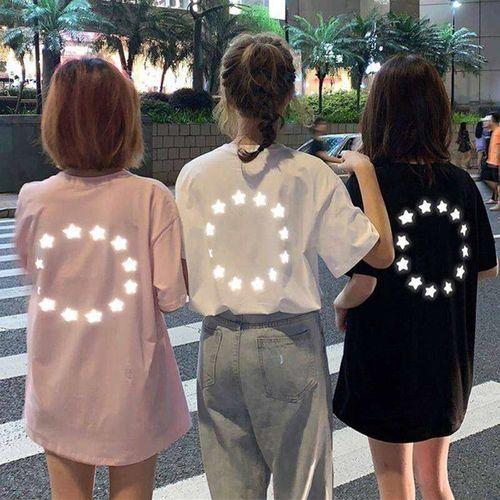 宽松版型韩版古着感少女心机t恤女短袖宽松网红chic港味体恤