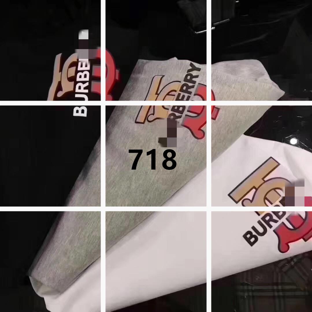 19夏季新款字母渐变印花圆领T恤休闲时尚宽松版简单干净透风短袖