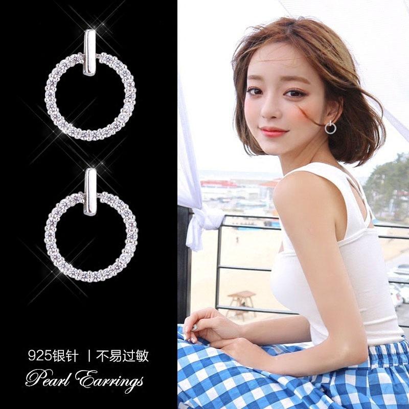 韓版簡約耳釘S925銀針耳環女防過敏耳夾氣質個性百搭耳飾網紅耳墜