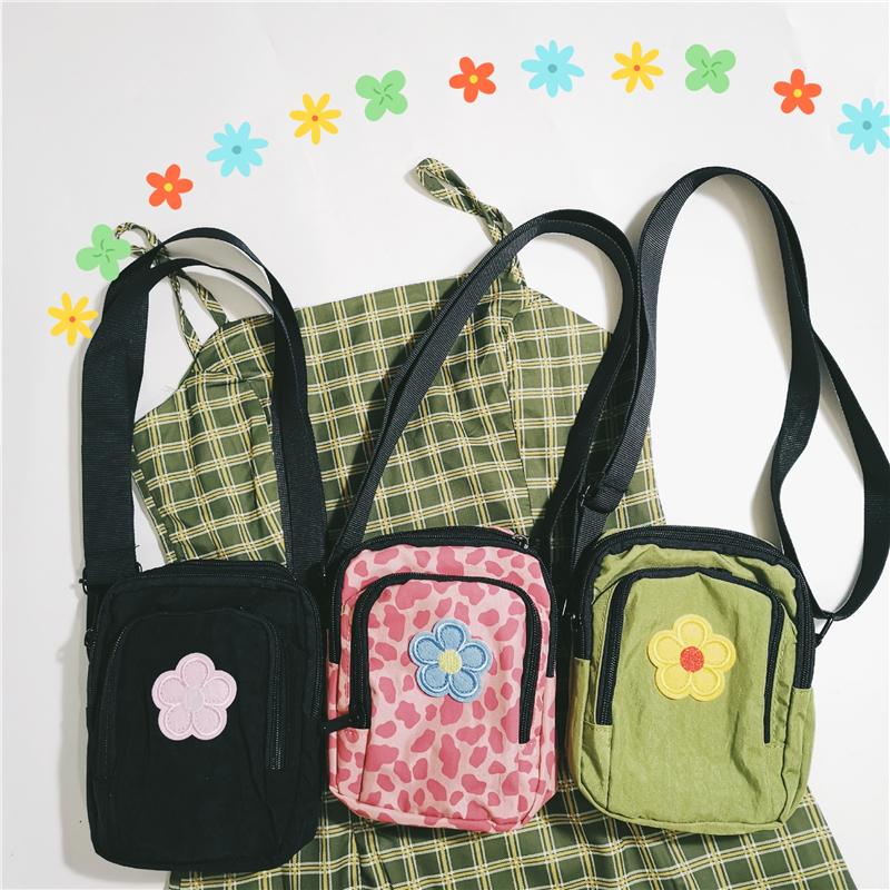 实价不减 泫雅风立体花朵包包女学生韩版百搭手提包单肩包帆布包