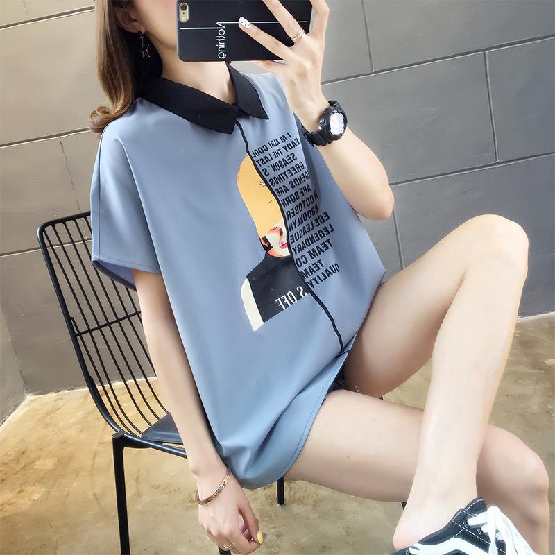 實拍2019夏款棉質不下架網紅同款韓版寬松短袖t恤女上衣