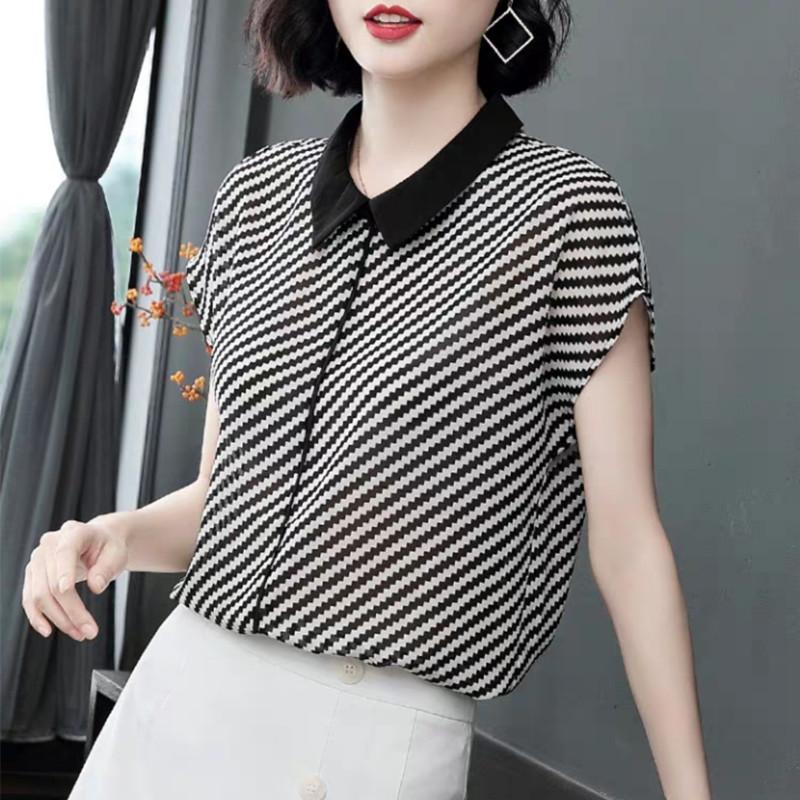 格子襯衫女夏季2019新款短袖寬松韓版外套復古港味薄款潮洋氣上衣
