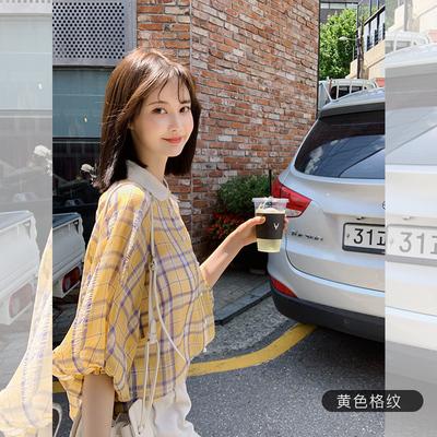 张大奕 绚丽整个夏天 格子控的最爱 清新甜美短袖衬衫
