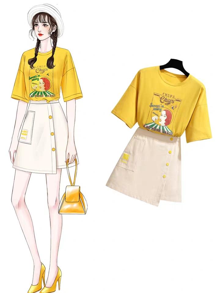 網紅連衣裙2019新款夏女士甜美氣質裙子仙女超仙森系兩件套a字裙