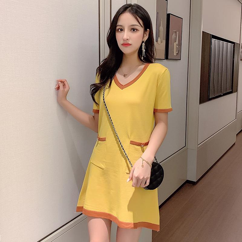 大喜女夏季新款時尚洋氣小香風網紅氣質連衣裙針織短裙收腰顯瘦
