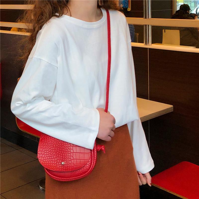 實拍不下架秋冬網紅同款韓版寬松套頭上衣學生韓版T恤女潮