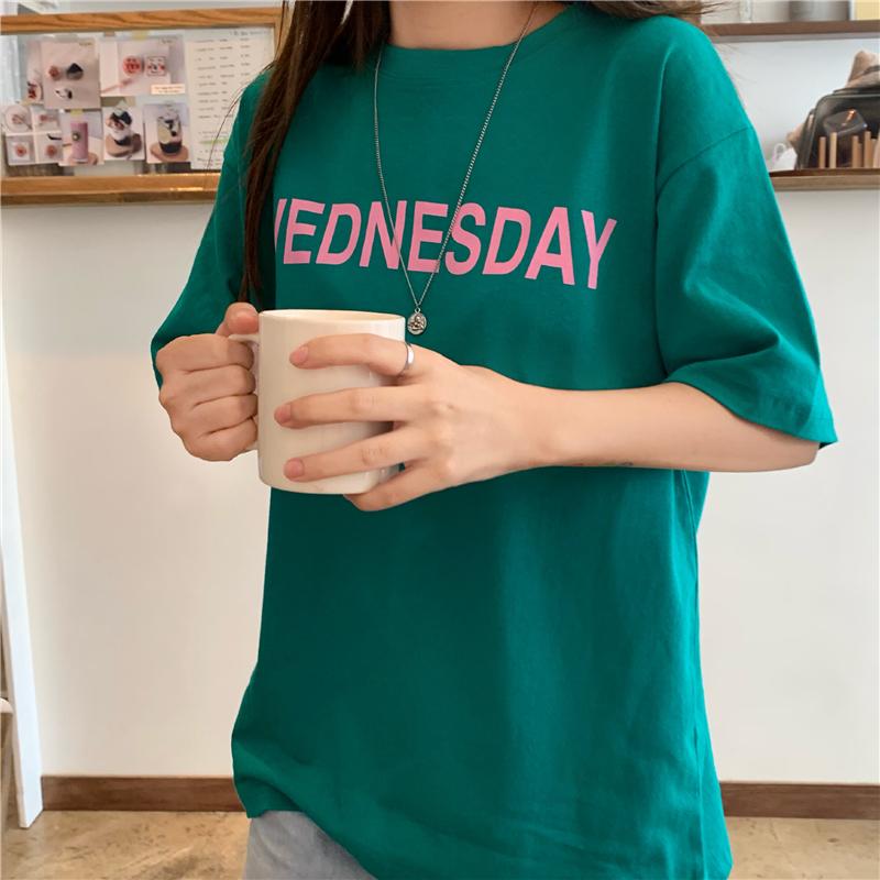 實拍實價 2019夏季韓版創意印花T恤女學生寬松顯瘦短袖潮
