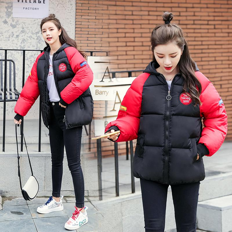 实拍2019冬季新款亚博开户羽绒棉服女短款面包服学生装宽松棉衣外套