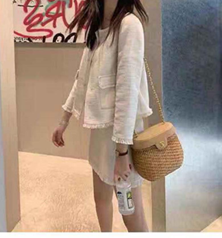 張大奕 早秋新款兩件套名媛風套裝外套半身裙洋氣韓版輕熟裙子