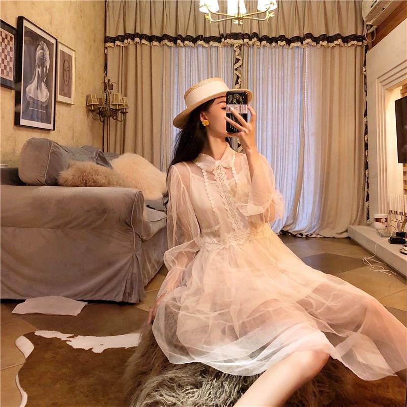 實拍實價 控價5 復古網紗層層蛋糕蓬蓬裙兩件套