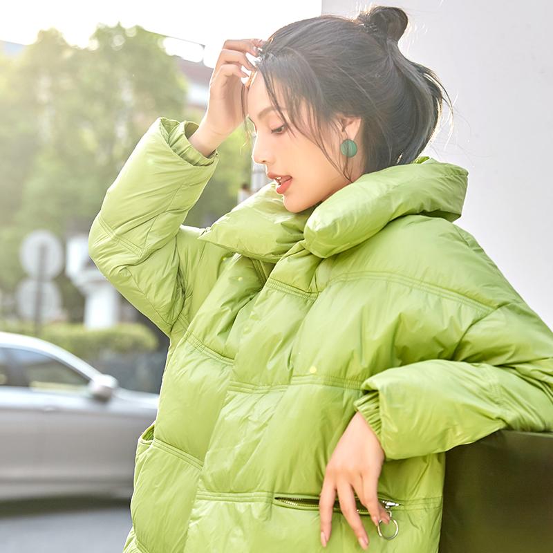 亚博娱乐平台入口羽绒服女2019冬季新款轻薄韩版宽松bf棉衣ins网红面包服