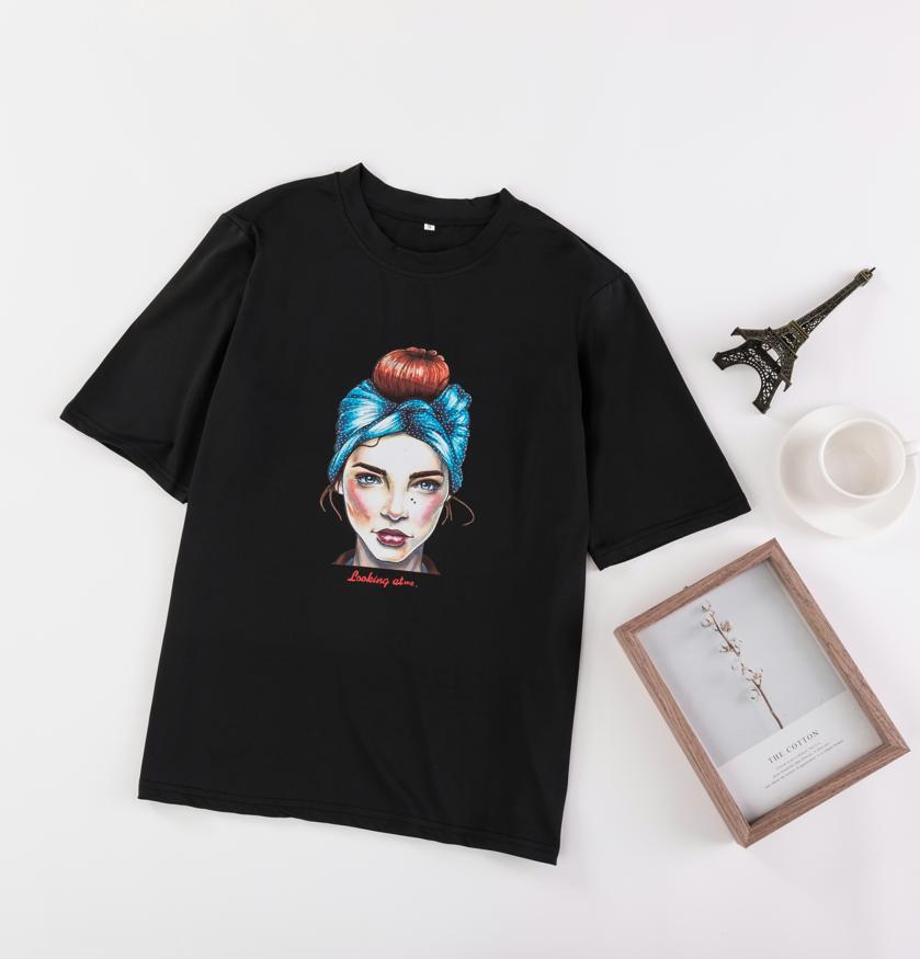 亚博娱乐平台入口2019夏季新款欧美外贸跨境印花T恤大量现货