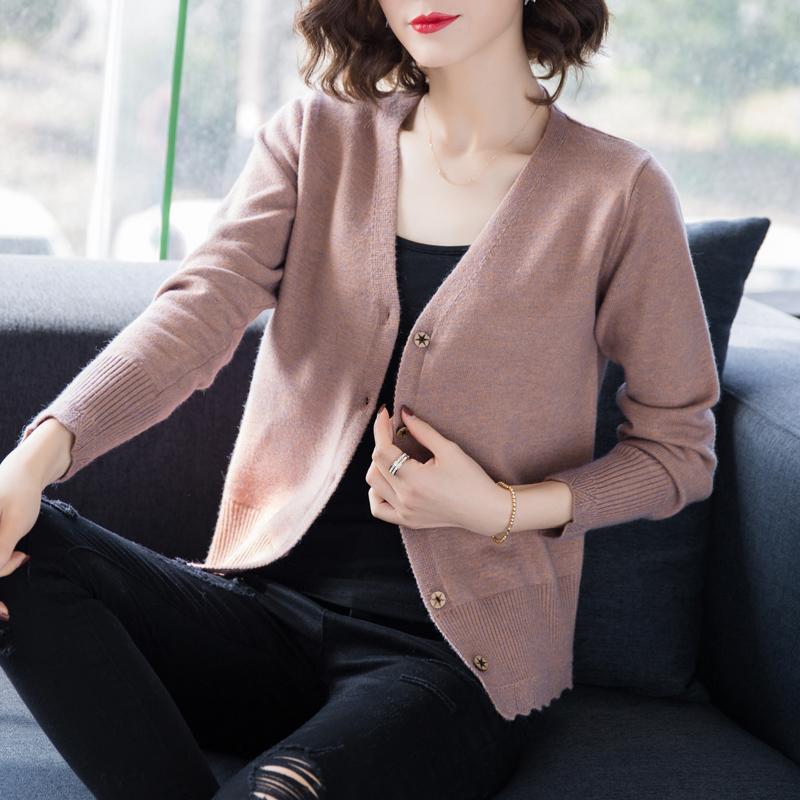 官网图大量现货 2019秋冬新款宽松毛衣开衫女长袖针织衫外套