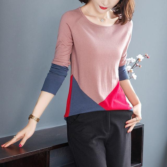 亚博开户舒适时尚潮流毛衣长袖秋季优雅个性气质淑女田园小香风针织衫