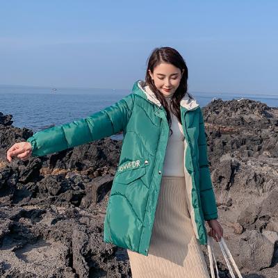 实拍2019秋季韩国冬装新款羽绒服女宽松学生bf棉衣外套ins