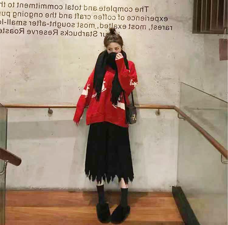 2019新款女裝很仙的山本法式復古法國小眾連衣裙兩件套裝