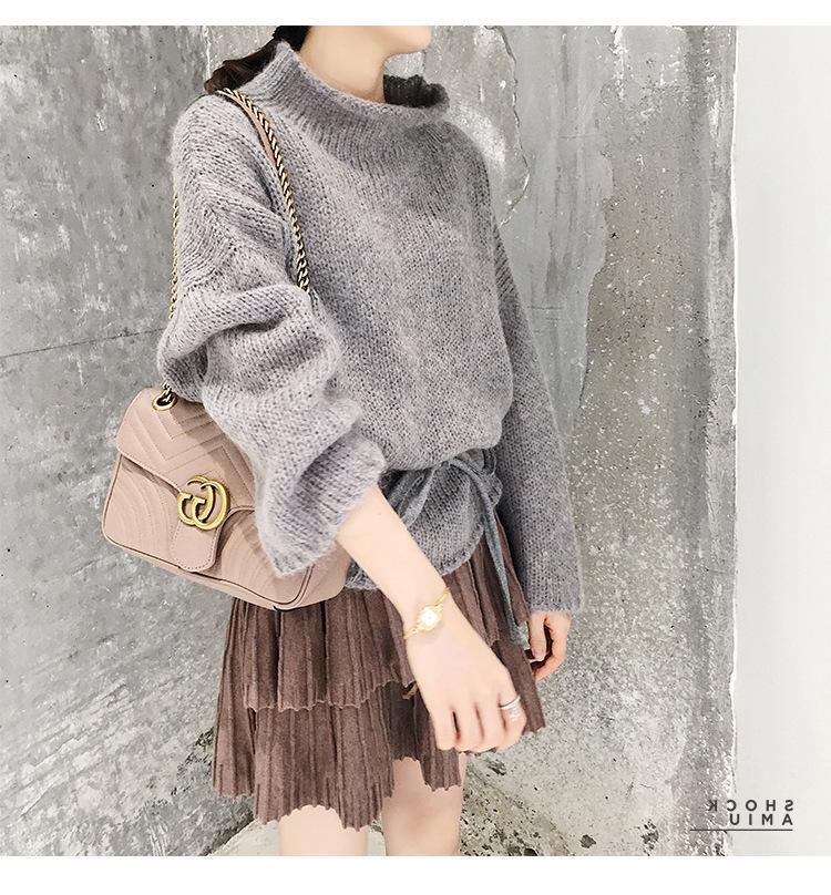 2019秋季新款bf女神氣質時髦小香風l兩件套毛衣短裙裝秋冬時尚潮