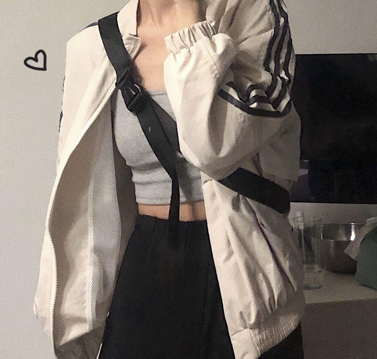 實拍 現高能撞色運動風拉鏈連帽衛衣女2019寬松韓版慵懶風潮外套