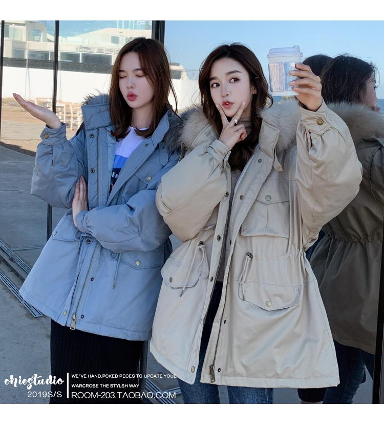 工裝棉服女短款ins2019新款潮冬韓版寬松顯瘦小個子棉衣外套