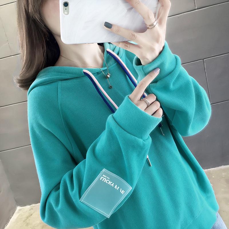亚博娱乐平台入口秋装韩版超火cec卫衣女 成分 65棉 35纤维