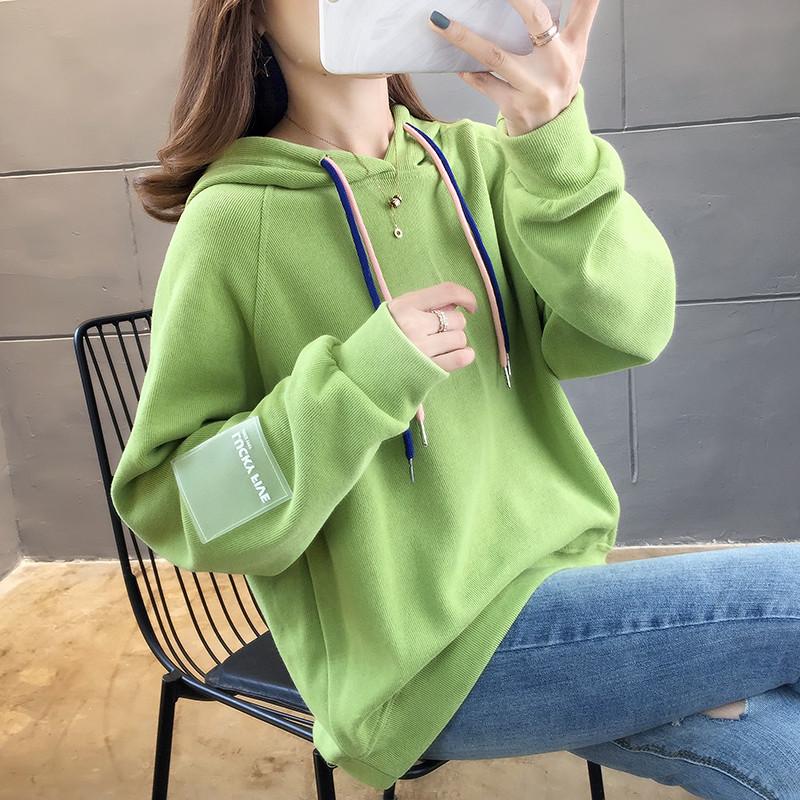 490#亚博娱乐平台入口秋装韩版超火cec卫衣女 成分 65棉 35纤维