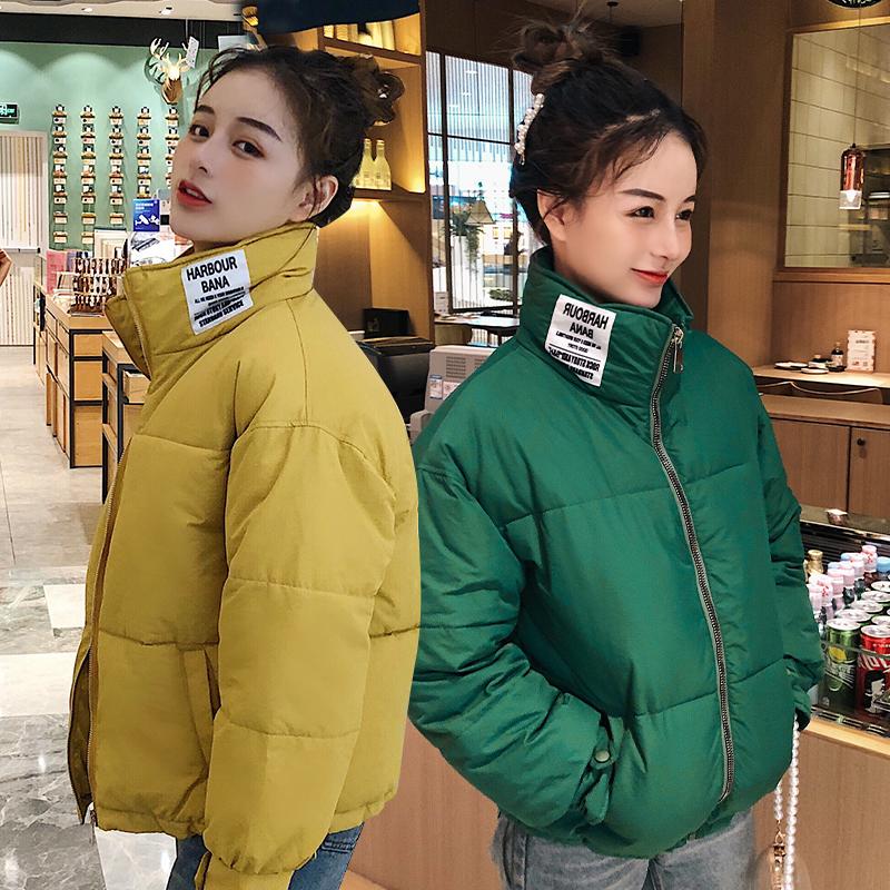 亚博娱乐平台入口2019秋冬韩版立领羽绒棉面包服女短款时尚小个子学生棉衣外套
