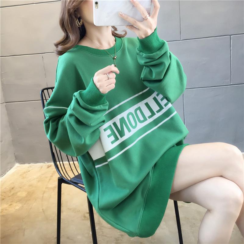 亚博娱乐平台入口自设工厂货源稳定发光字母个性棉质宽松长袖卫衣女网红同款