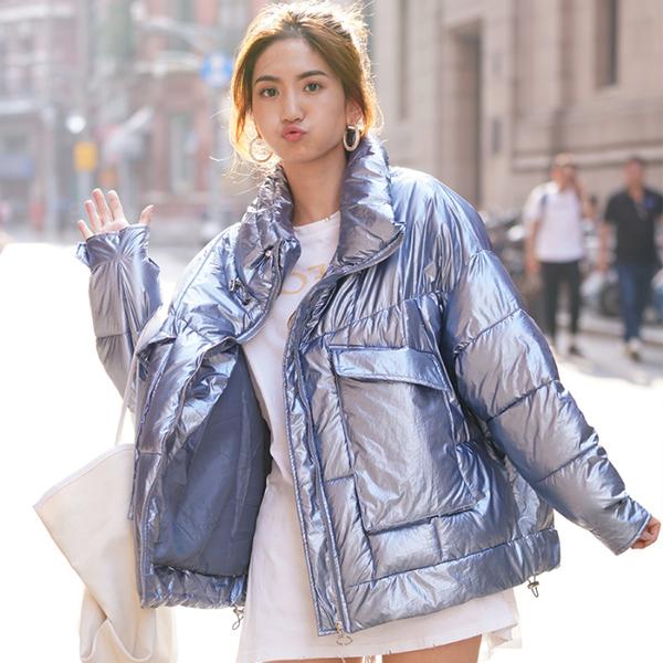 亚博娱乐平台入口19年新款羽绒服女韩版短款时尚宽松ins棉衣外套oversize面包