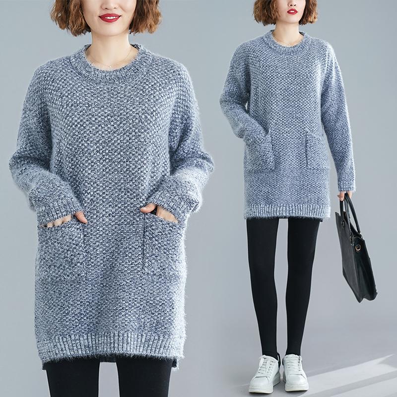 19時尚韓版套頭毛衣針織寬松外穿時尚半高領打底衫秋冬內搭限60
