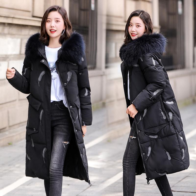大碼女裝羽絨服女冬季韓版棉衣中長款寬松加肥加大碼棉服胖mm外套