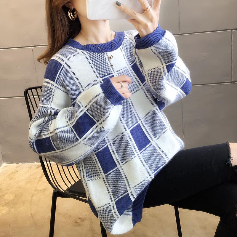 2892#實拍包芯紗好質量新款慵懶寬松網紅韓版套頭長袖毛衣女
