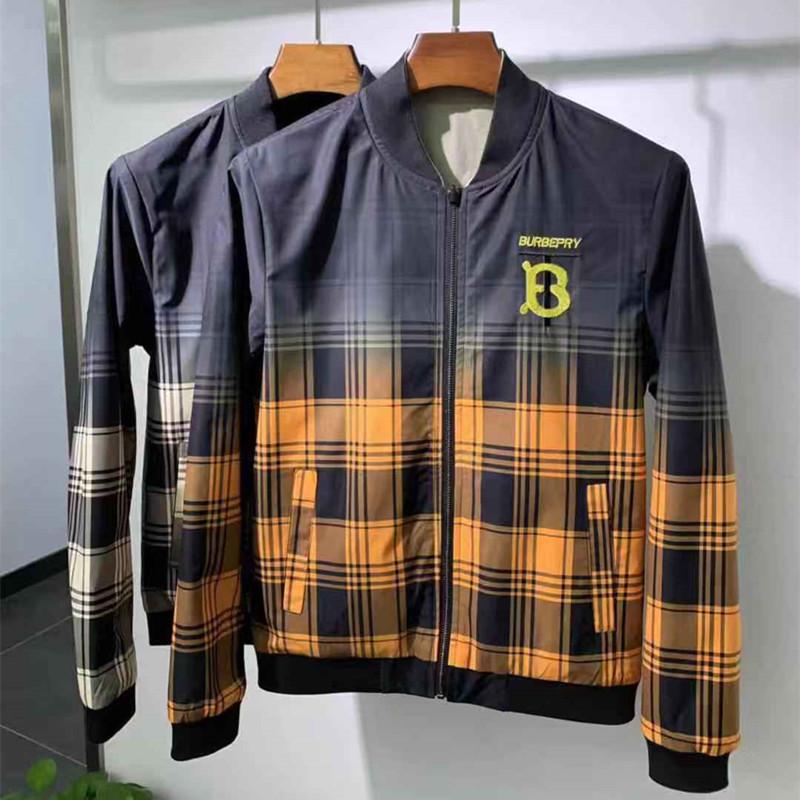 新款格子夾克衫雙面穿男士短款
