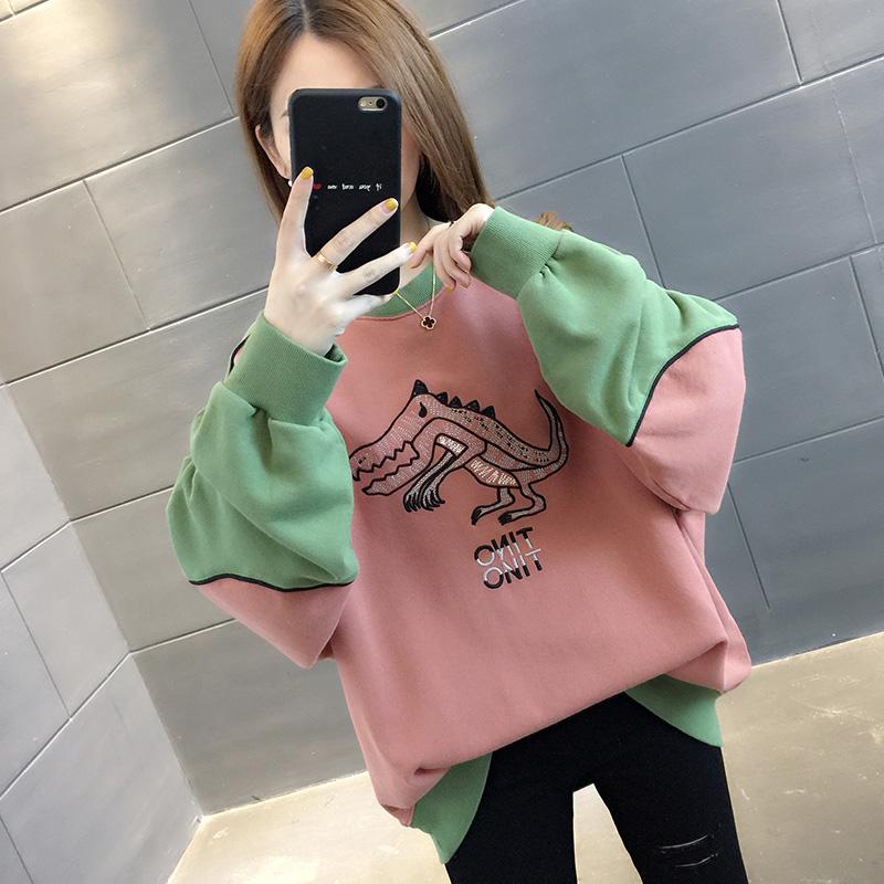 韓版女裝2019年新款春秋季女士初秋裝寬松衛衣薄款外套上衣ins潮