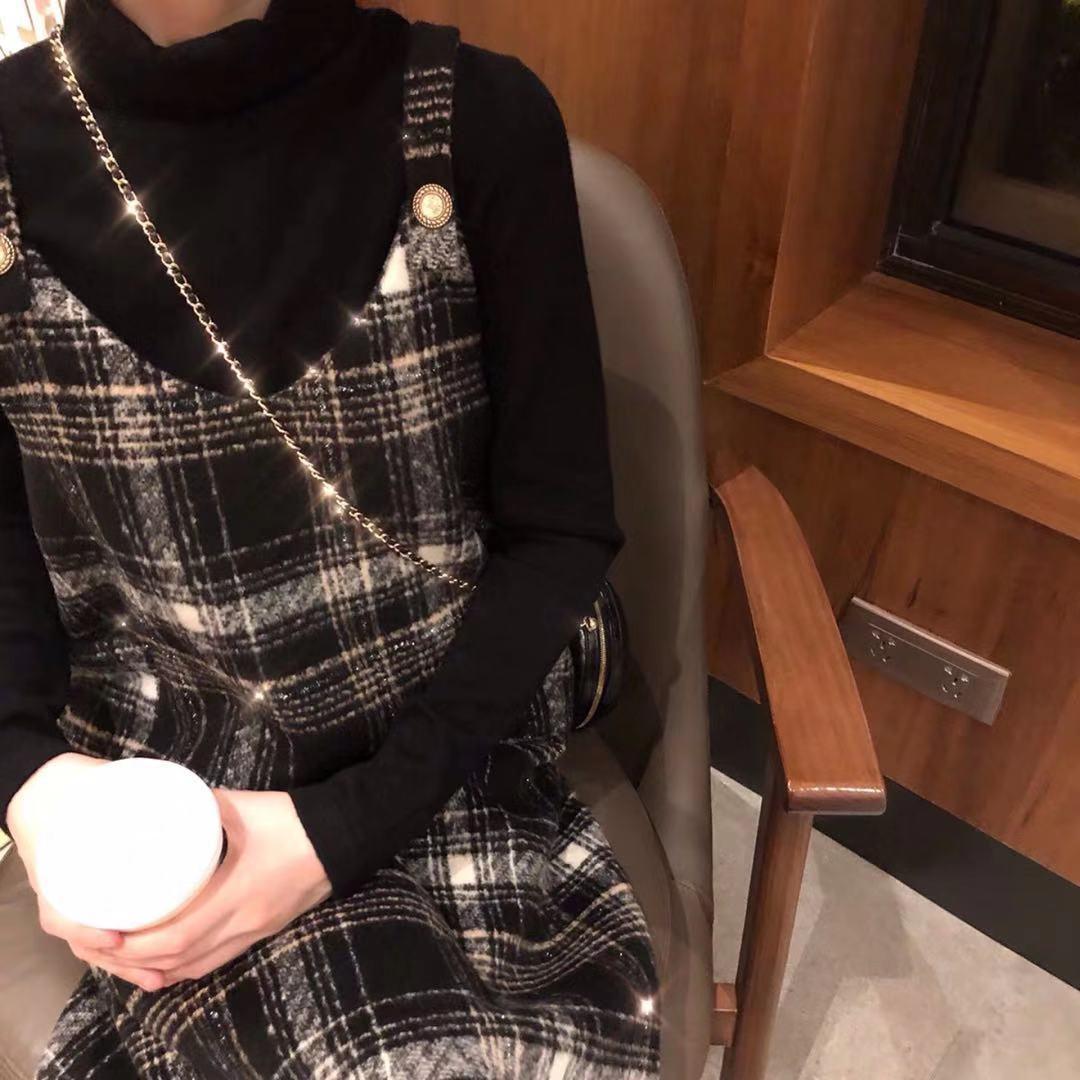 珍珍家10/04 AM 10:00上新定制 经典格子背带裙