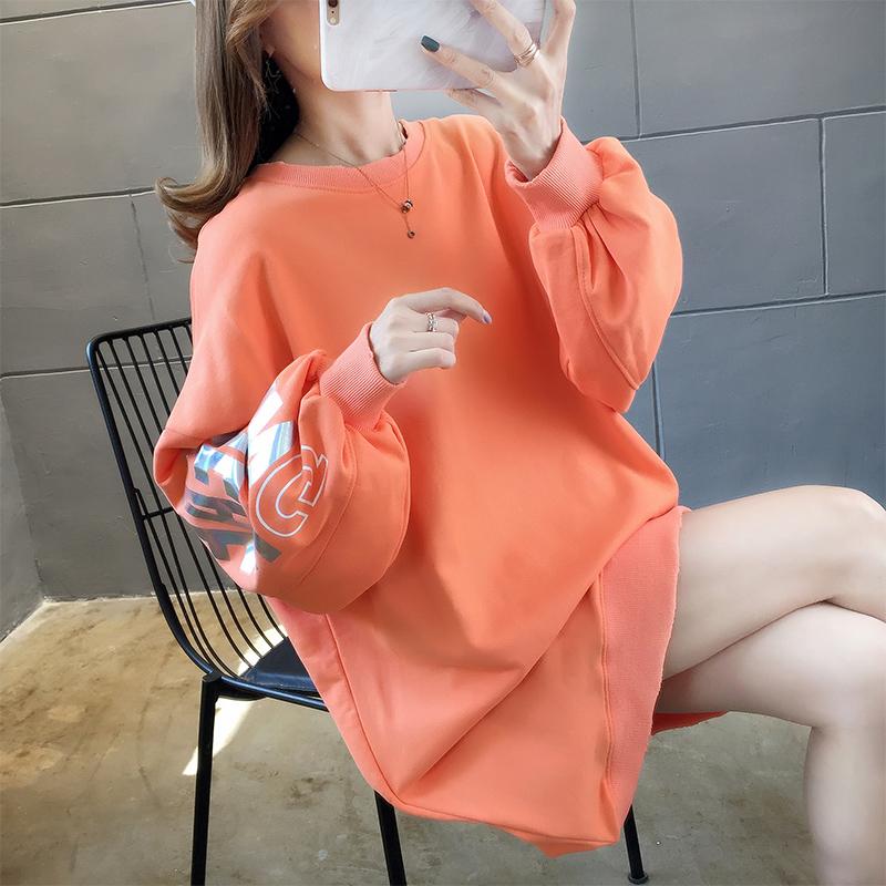 實拍自設工廠貨源穩定好質量棉質寬松長袖衛衣女網紅同款