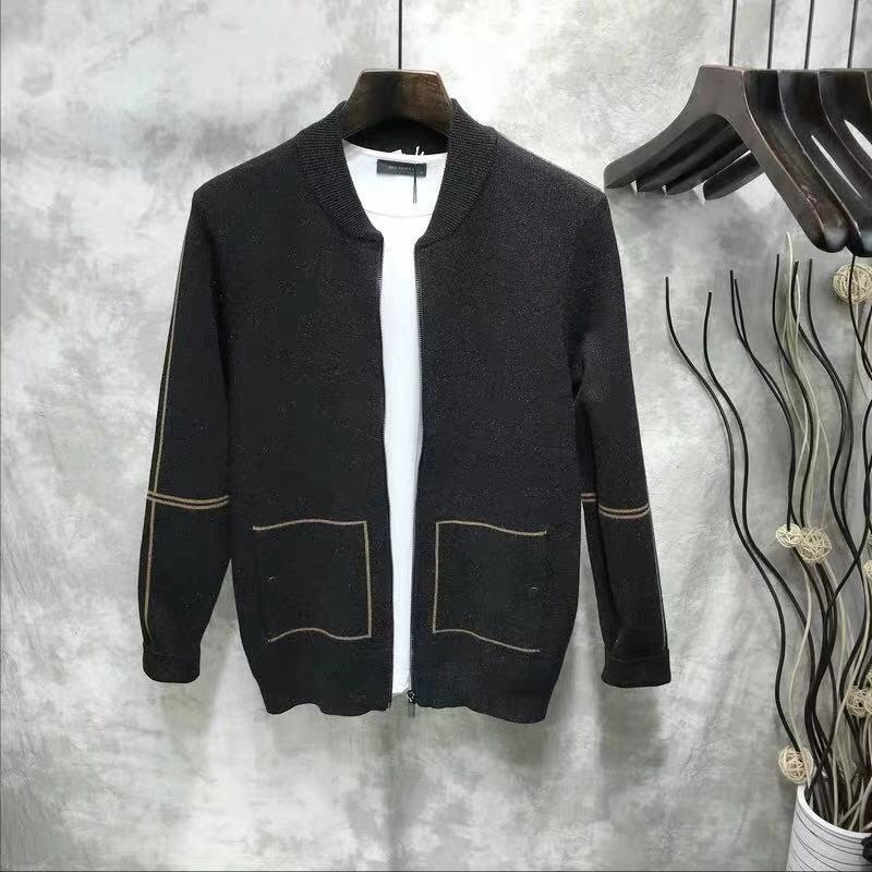 新款男士開衫拉鏈針織毛衫夾克外套