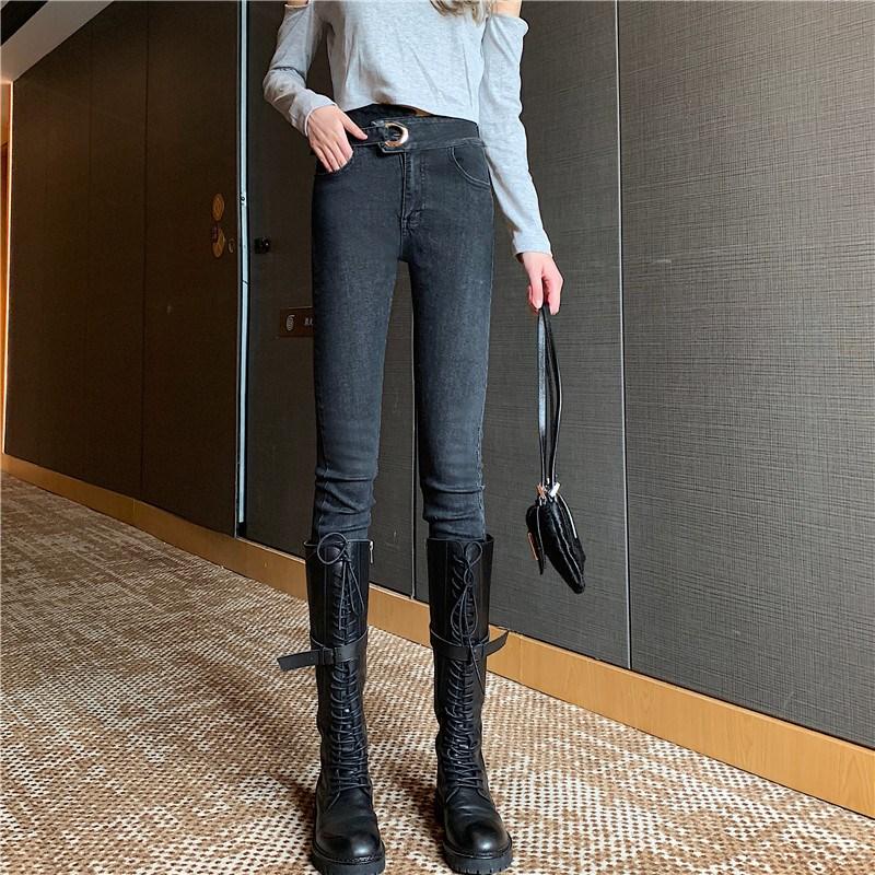 實拍實價 控價5 高腰顯瘦緊身彈力小腳牛仔褲