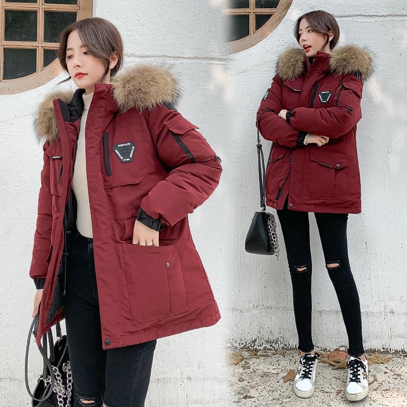 实拍新款羽绒棉服女韩版军工?#20449;?#21516;款加厚户外防寒服棉衣工装外套