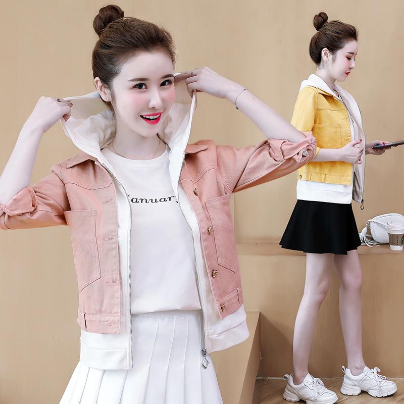 牛仔短外套女春秋2019新款韓版寬松百搭上衣時尚女裝薄款小夾克潮