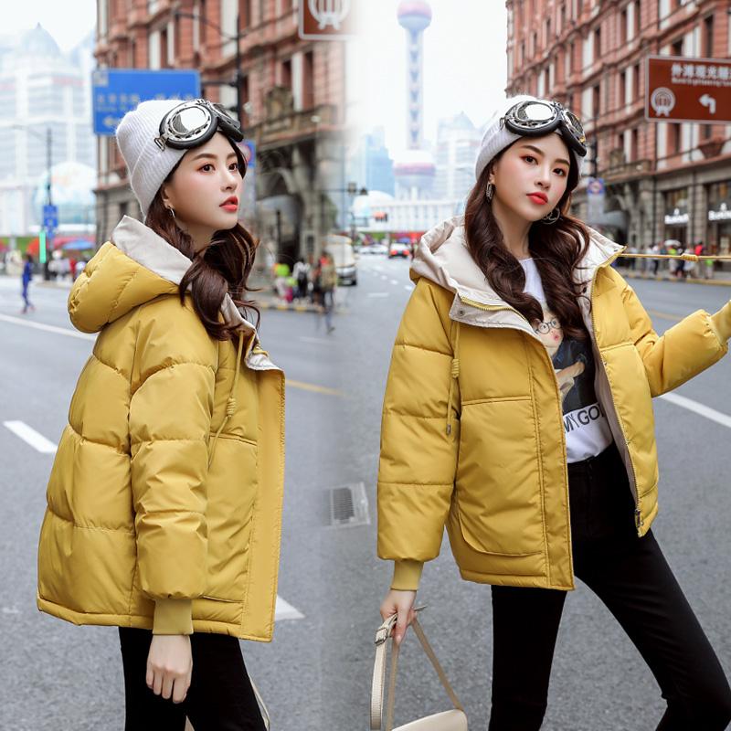 實拍19冬季新款羽絨服女短款棉襖ins面包服學生韓版寬松棉衣外套