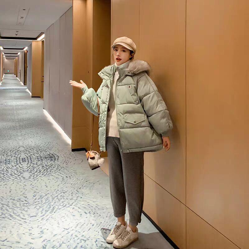 孕婦棉服冬孕后期寬松棉衣冬季加厚棉襖中長款保暖外套孕婦裝冬裝