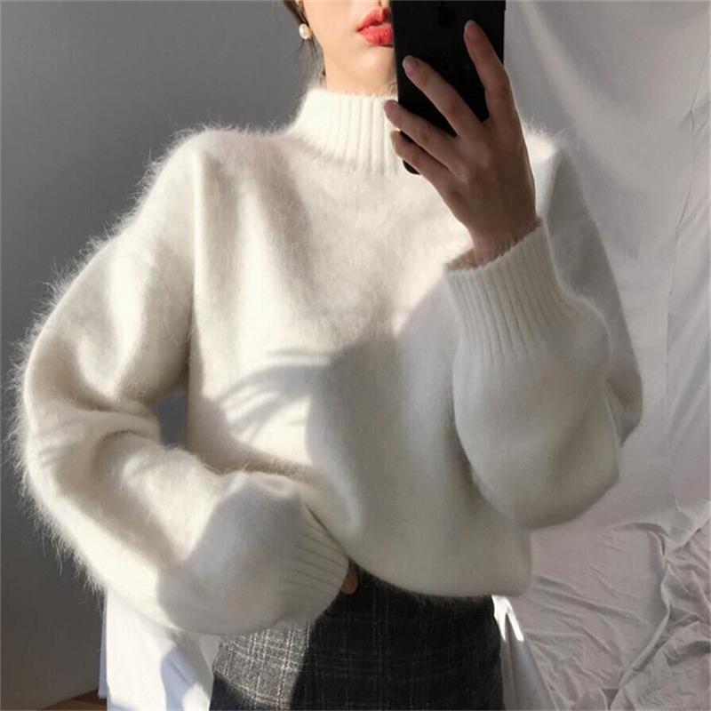 實價 現貨 小姐姐推薦 韓國毛絨秋冬百搭純色毛衣女
