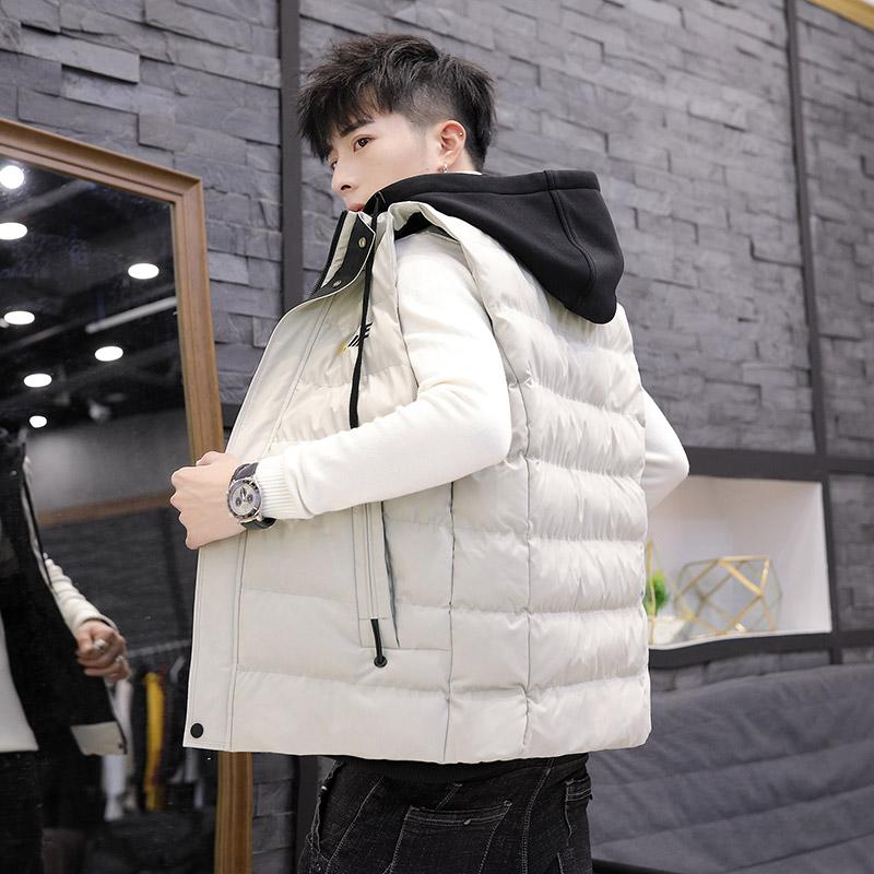 男士马甲秋冬季棉服背心青年坎肩无袖保暖外套冬天衣服帅气男装潮