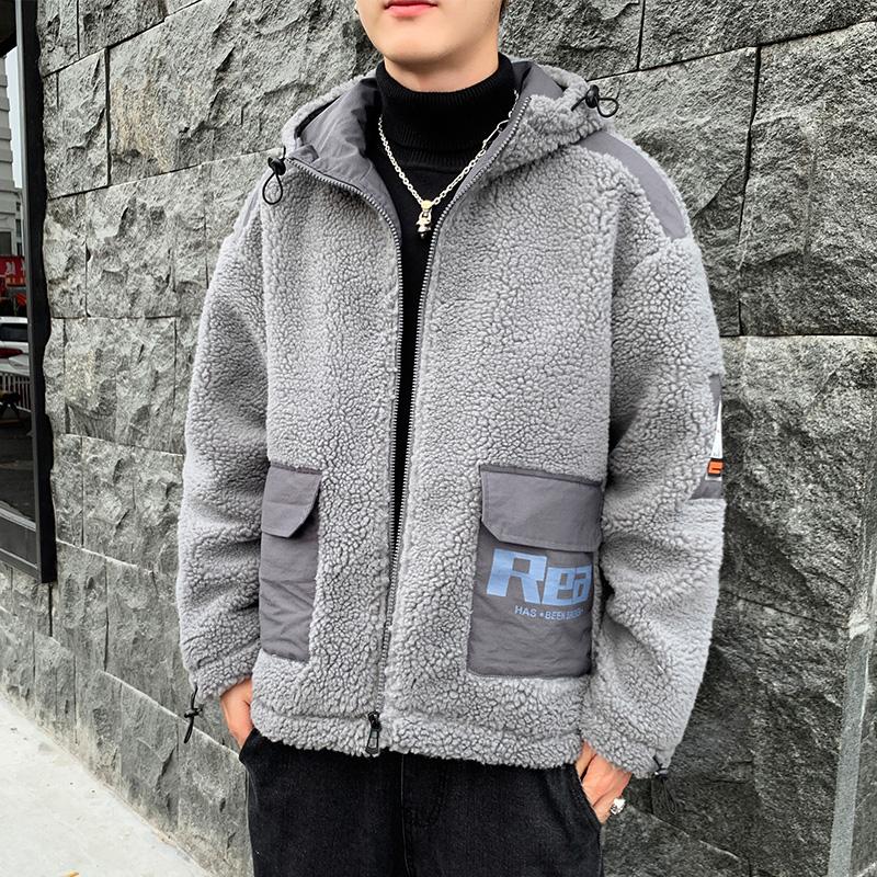 冬裝棉衣男羊羔絨棉服2019冬季新款加絨加厚羔毛保暖棉襖潮牌外套