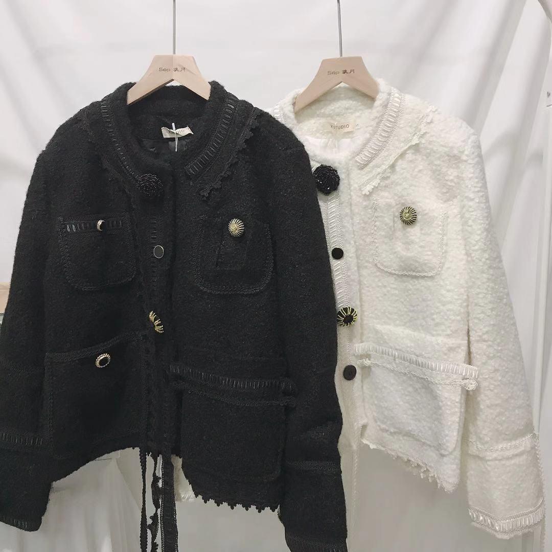 A LA MODE 進店必入閉眼入! 美麗黑色廓形小香短款外套夾克大衣