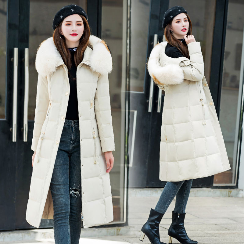 冬季新款羽絨服女長款過膝韓版時尚加厚白色爆款外套潮不退換