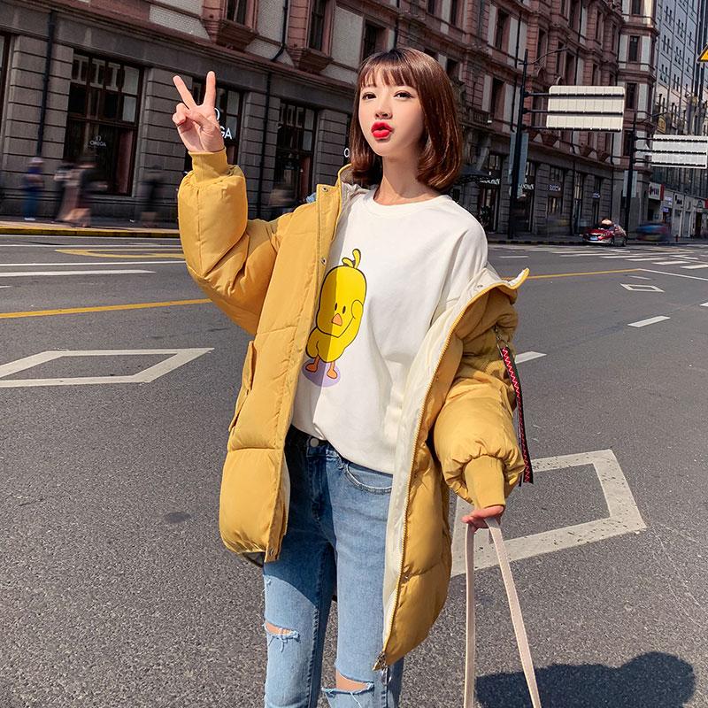 實拍2019新款冬季外套棉襖短款棉衣韓版羽絨棉服女學生寬松面包服