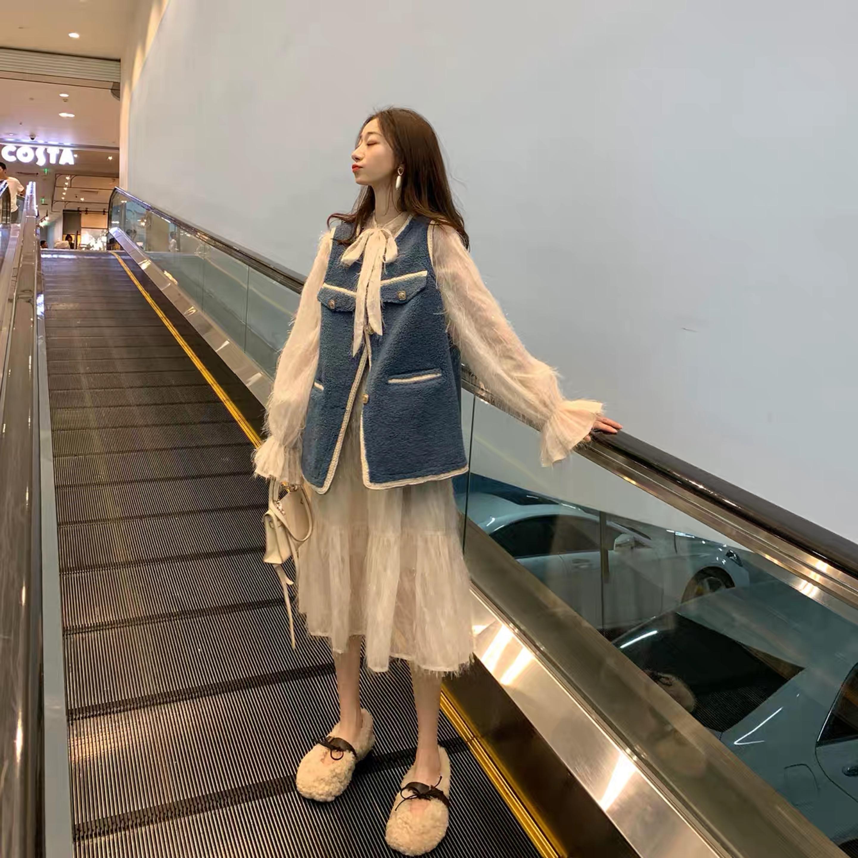 孕妇款2019秋冬季新款外套纯色马甲