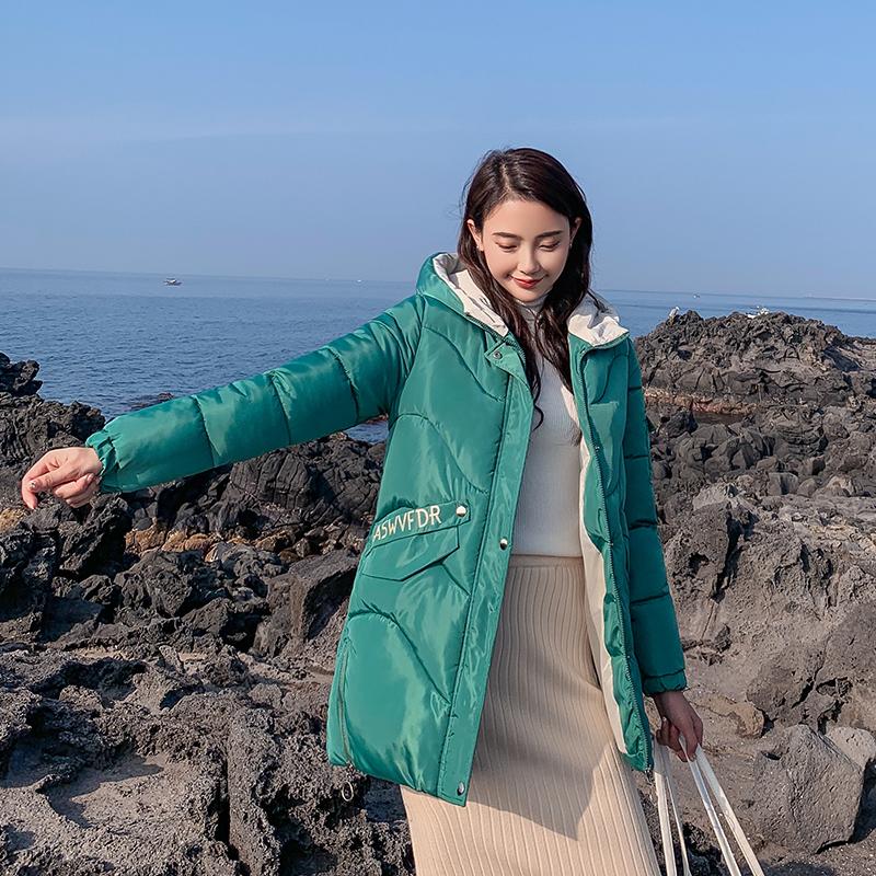 實拍2019秋季韓國冬裝新款羽絨服女寬松學生bf棉衣外套ins